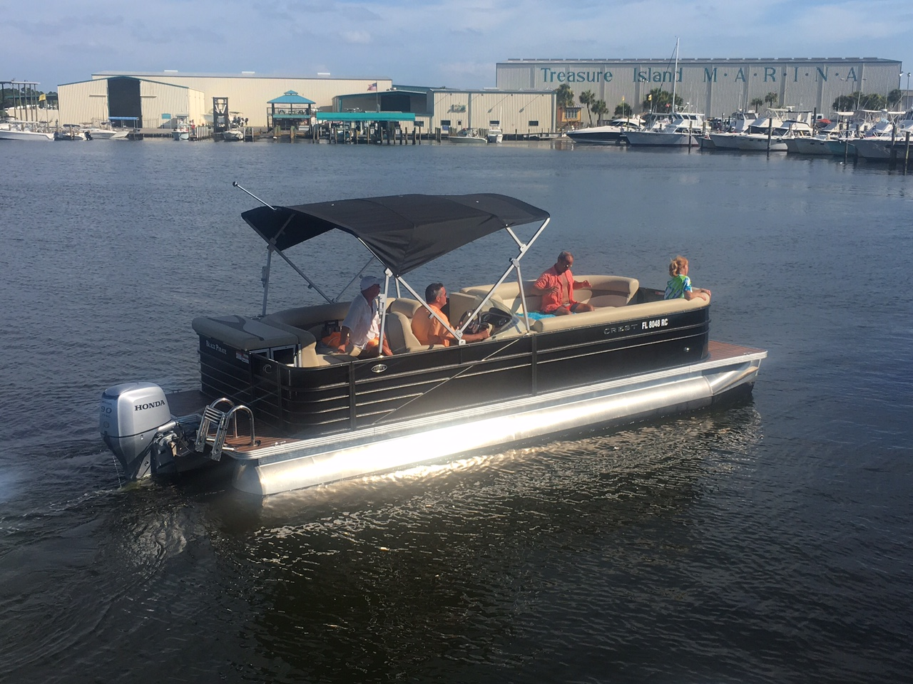 pontoon boat rentals panama city beach